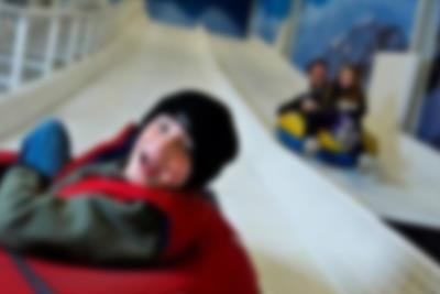 Try the indoor toboggan run in Winter World at Lalandia in Billund